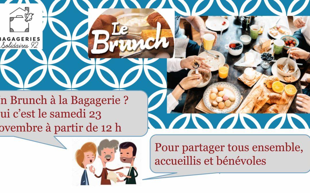 BRUNCH DANSANT LE SAMEDI 23 NOVEMBRE 2019 A LA BAGAGERIE